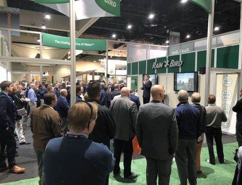 Rain Bird Speaker Series & New Products at GIS 2019 Bring Crowds to the Rain Bird Booth