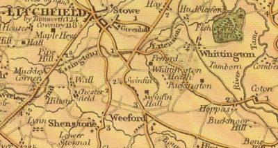 Whittington Heath Golf Club Old Map