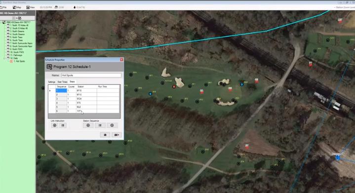 中央制御マップのプログラムから直接、ステーションをすばやく追加および削除