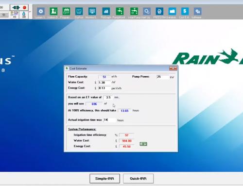 Rain Bird 中央制御のコスト推定機能を利用し、十分な情報を得たうえで決定を下す