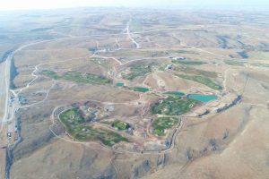 Aerial view during grow-in, Regnum Ankara